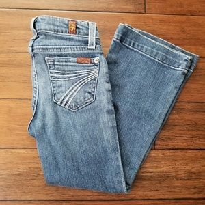 7FAM Girls Dojo Light Wash Flare Denim Jean Size 5